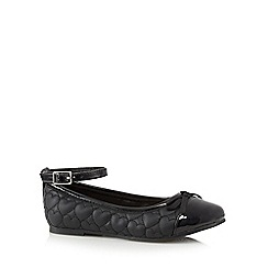 bluezoo - Girls' black heart quilted shoes