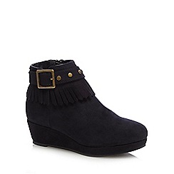 bluezoo - Girls' black wedge boots