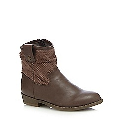 Mantaray - Girls' brown western boots
