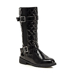 bluezoo - Black patent quilted riding boots