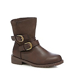 bluezoo - Girls' brown buckle boots