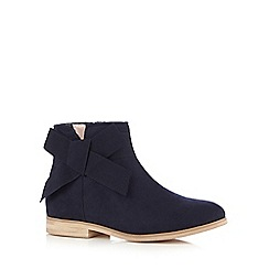J by Jasper Conran - Girls' navy bow applique ankle boots