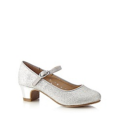 bluezoo - Girls' silver glitter detail block heels