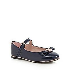 Baker by Ted Baker - Girls' navy patent slip-on shoes