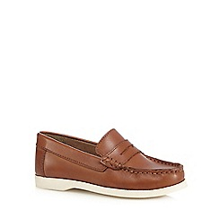 J by Jasper Conran - Boys' tan leather slip-on shoes