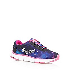 Pineapple - Girls' purple and pink galaxy print trainers