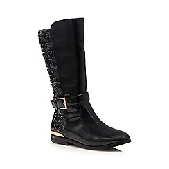 Baker by Ted Baker - Girls' black patent full length boots
