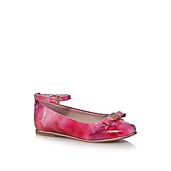 Baker by Ted Baker - Girls' pink bow print slip-on shoes