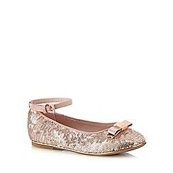 Baker by Ted Baker - Girls' pink sequin detail flat shoes