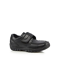 Debenhams - Boys' leather rip tape strap school shoes