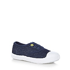 bluezoo - Boys' navy denim slip-on shoes