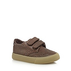 bluezoo - Boys' brown rip tape brogues
