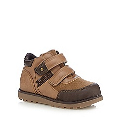 bluezoo - Boys' tan rip tape walking boots