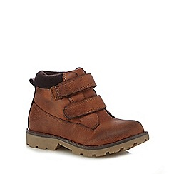 Mantaray - Boys' tan rip tape boots