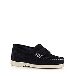 J by Jasper Conran - Boys' navy suede slip-on shoes