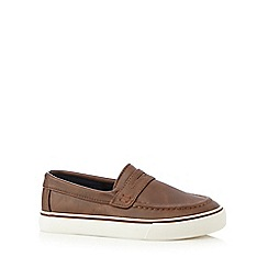 bluezoo - Boys' brown driver shoes