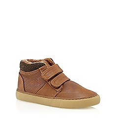 bluezoo - Boys' tan double rip tape boots