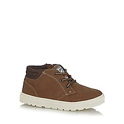 Mantaray - Boys' brown zip and lace trainers