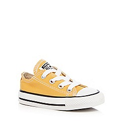 Converse - Baby boys' yellow 'Chuck Taylor Ox' trainers