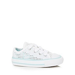 Converse - Baby girls' white 'All Star' lace up shoes