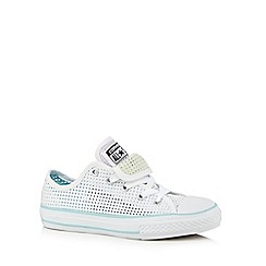 Converse - Girls' white perforated 'Chuck Taylor' trainers