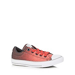 Converse - Boys' red 'All Star' lace up shoes