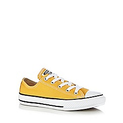 Converse - Boys' yellow 'All Star' lace up shoes