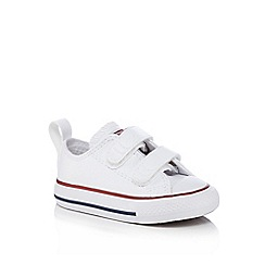Converse - Boys' white 'All Star' casual shoes
