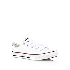 Converse - Boys' white 'Chuck Taylor' trainers