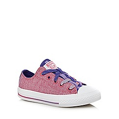 Converse - Girls' pink 'All-Star' trainers