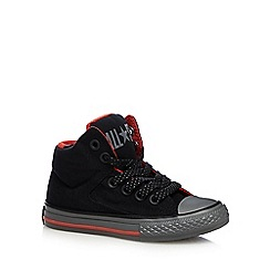Converse - Boys' black hi-top 'All-Star' lace up shoes