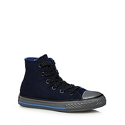 Converse - Boys' navy hi-top 'All-Star' lace up shoes