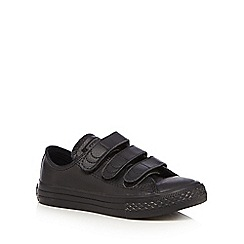 Converse - Boys' black 'Chuck Taylor' leather trainers