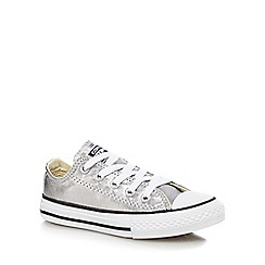 Converse - Girls' silver 'All-Star' trainers