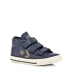 Converse - Boys' navy 'All Star' leather trainers