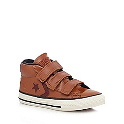 Converse - Boys' brown 'All Star' leather trainers
