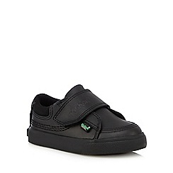 Kickers - Boys' black leather trainers