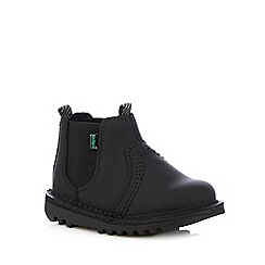 Kickers - Boys' black leather Chelsea boots