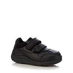 Kickers - Boys' black leather buckle shoes