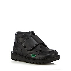 Kickers - Boys' black leather boots