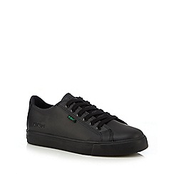Kickers - Boys' black lace up trainers