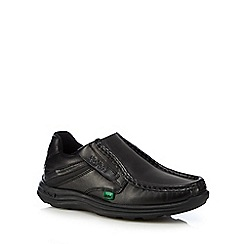 Kickers - Boys' black leather slip-on shoes