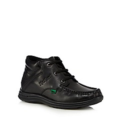 Kickers - Black leather ankle boots