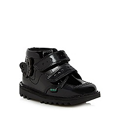 Kickers - Girls' black butterfly applique boots