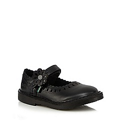 Kickers - Girls' black flower applique shoes
