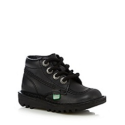 Kickers - Girls' black leather boots