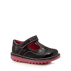 Kickers - Girls' black 'T Petal' shoes
