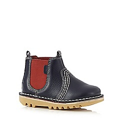 Kickers - Boys' blue stitch detail Chelsea boots