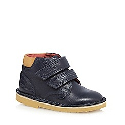 Kickers - Boys' navy 'Adlar' twin strap shoes