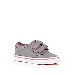 Vans - Girls' grey 'Atwood V' double rip tape trainers